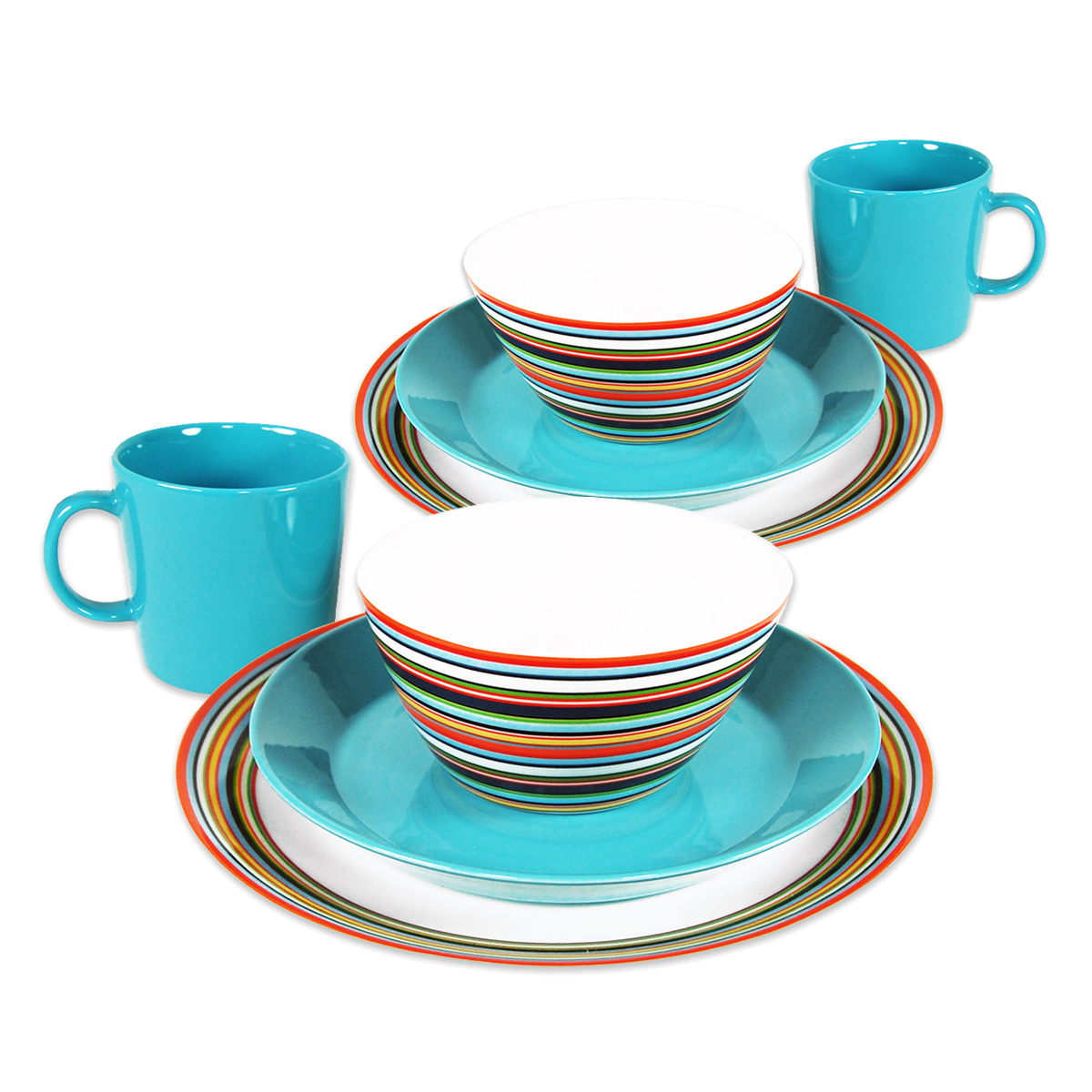 iittala origo teema place setting for two iittala teema turquoise dinnerware. Black Bedroom Furniture Sets. Home Design Ideas