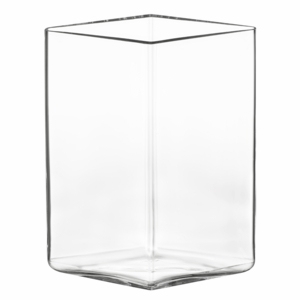 iittala Ruutu Clear Glass Vase – 10-3/4""