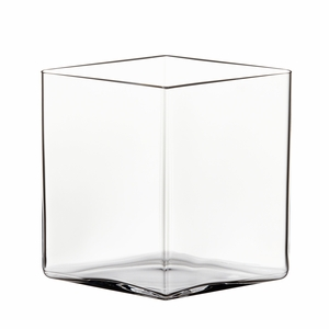 "iittala Ruutu Clear Glass Vase - 7"" x 8"""