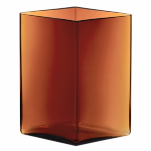 iittala Ruutu Copper Glass Vase – 10-3/4""