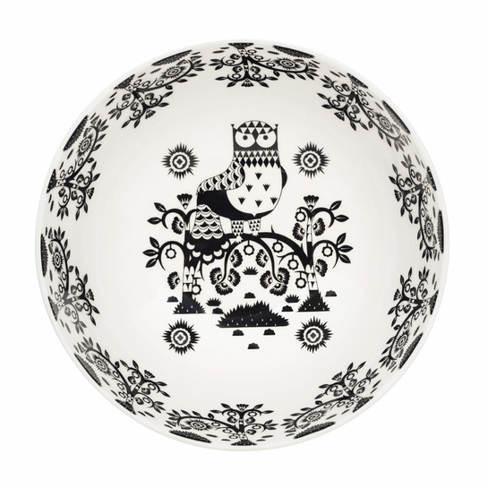 iittala Taika Anniversary White / Black Small Serving Bowl