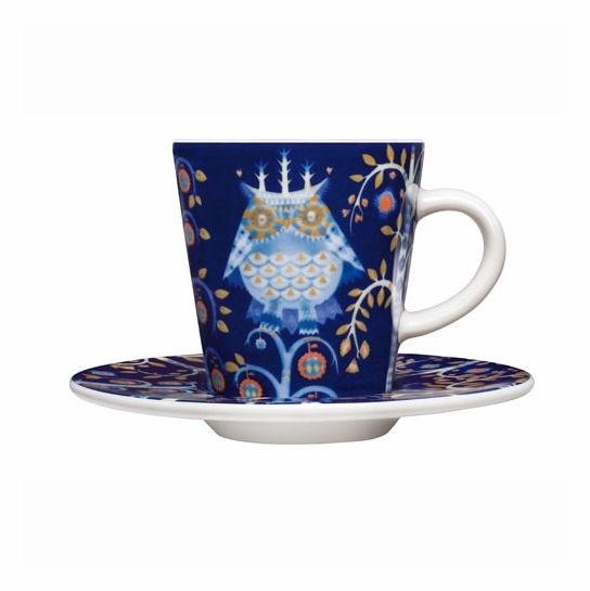 iittala Taika Blue Espresso Cup and Saucer