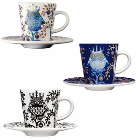 iittala Taika Espresso Cup and Saucer Set of 6