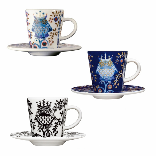 iittala Taika Espresso Cups and Saucers