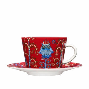 iittala Taika Red Coffee Cup and Saucer