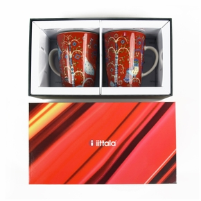 iittala Taika Red Mug 2pc Boxed Set