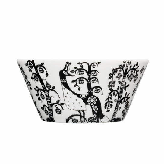iittala Taika White / Black 20 oz Bowl