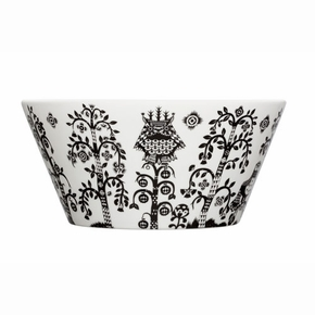 iittala Taika White / Black Serving Bowl