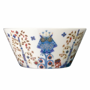 iittala Taika White / Blue Serving Bowl