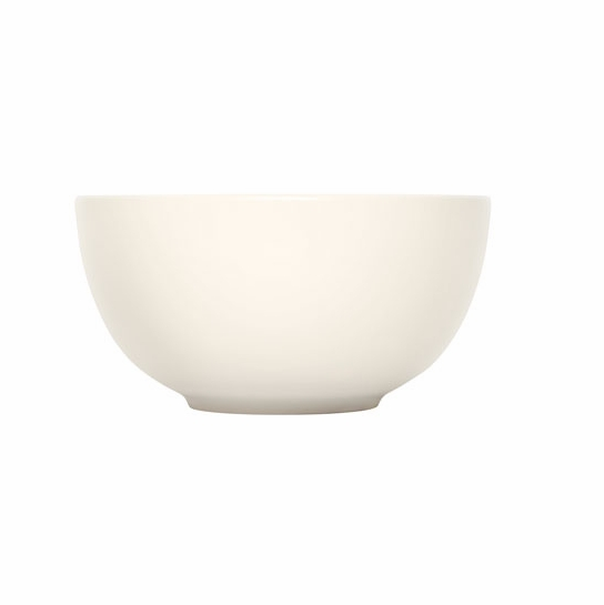iittala Teema White Small Curved Serving Bowl