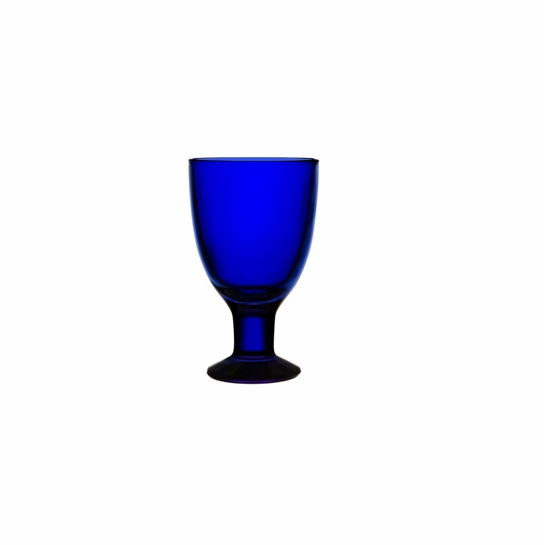 iittala Verna Cobalt Blue Wineglass / Goblet - Set of 2