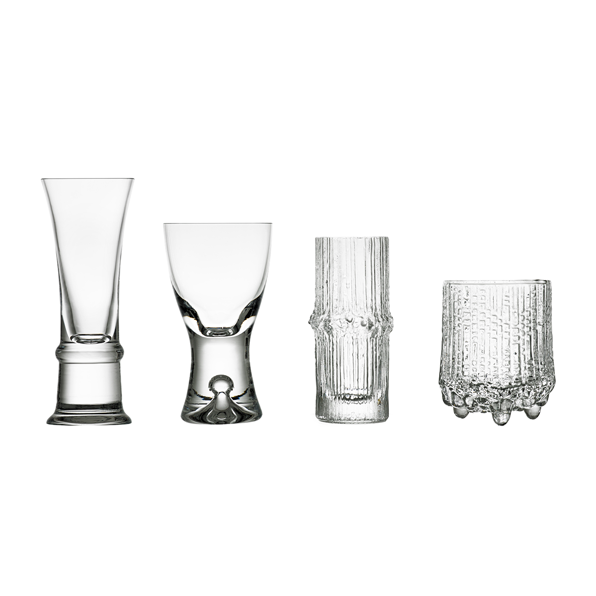 iittala wirkkala anniversary decades cordials set of 4 great gifts under 200. Black Bedroom Furniture Sets. Home Design Ideas