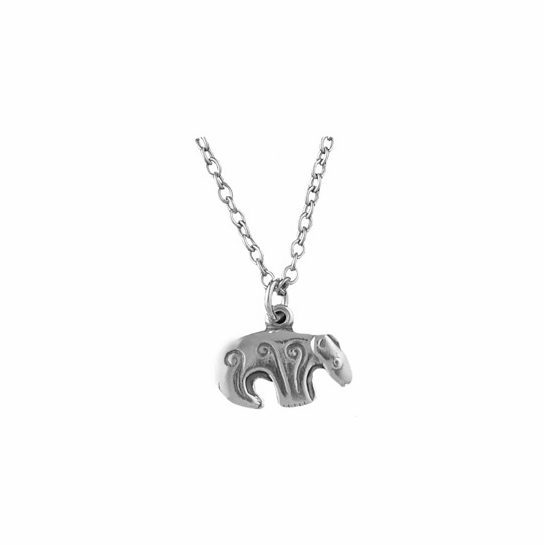 Kalevala Bear Silver Pendant Necklace