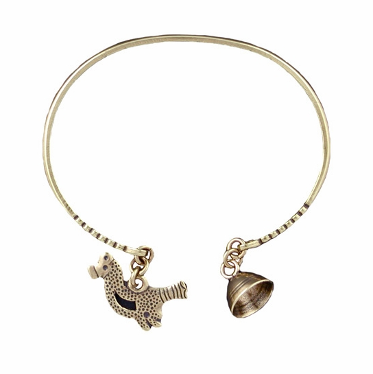 Kalevala Bird and Bell Bronze Bracelet