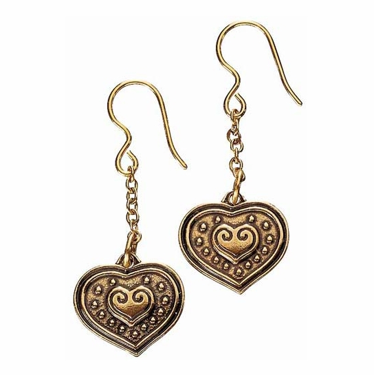 Kalevala Eura Heart Bronze Earrings
