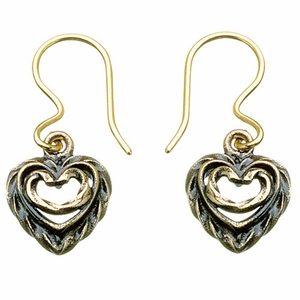 Kalevala Heart of the House Bronze Hook Earrings
