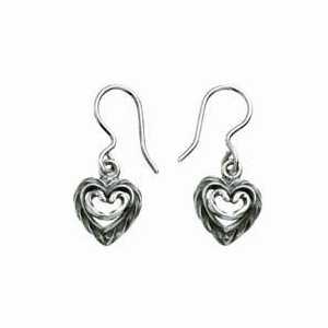 Kalevala Heart of the House Silver Hook Earrings