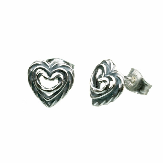 Kalevala Heart of the House Silver Post Earrings