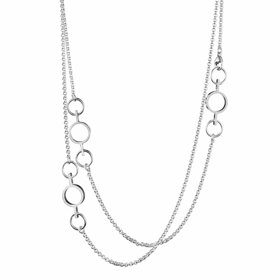 Kalevala Inger Silver Necklace – 41""