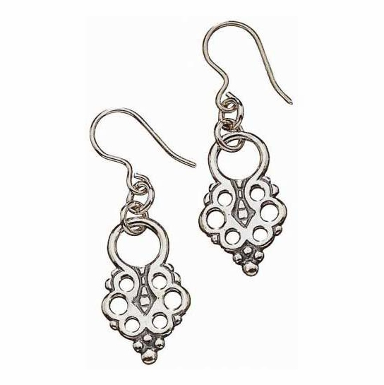 Kalevala Lappish Pendant Silver Earrings