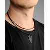 Kalevala Live Hard Live Your Dream Black Bronze Pendant Necklace