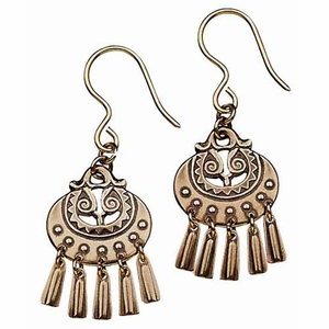 Kalevala Moon Goddess Bronze Earrings - Small