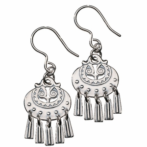Kalevala Moon Goddess Silver Earrings - Small