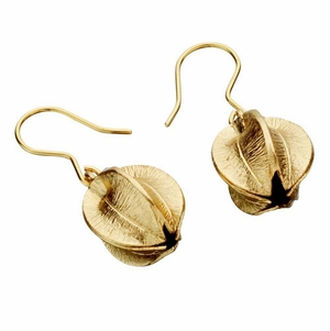 Kalevala Snowflower Bronze Earrings