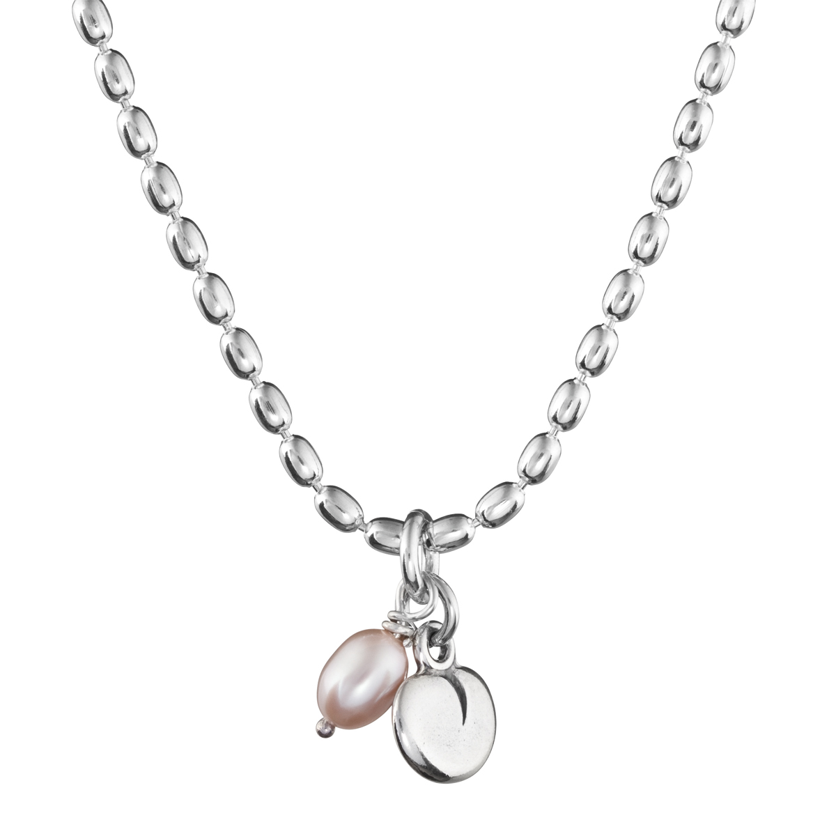 necklace pink by pearl silver claudetteworters initial pendant claudette with original in soft worters product blush