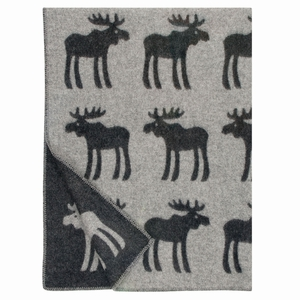 Lapuan Kankurit Hirvi Black/Grey Wool Blanket