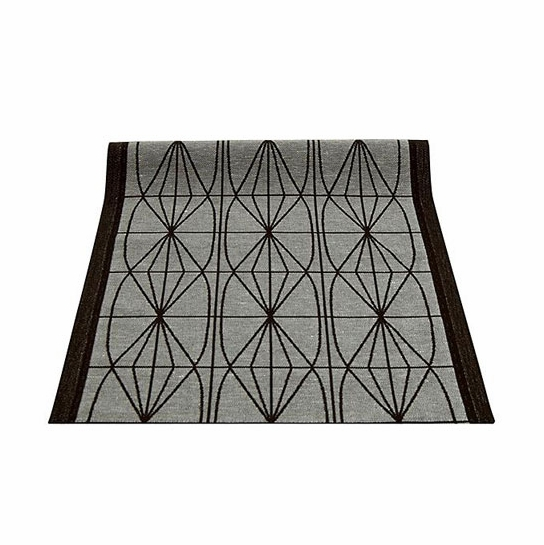 Lapuan Kankurit Kehrä Grey/Black Table Runner - Large