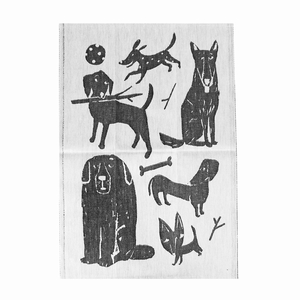 Lapuan Kankurit Koirapuisto Black Tea Towel