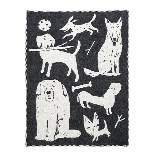Lapuan Kankurit Koirapuisto Black Wool Throw