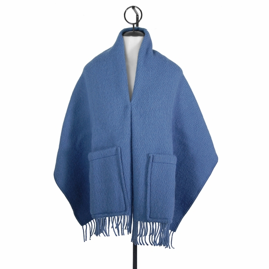 Lapuan Kankurit Uni Blue Wool Pocket Shawl