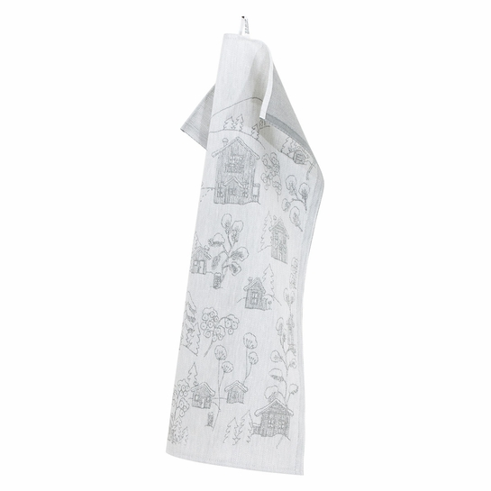 Lapuan Kankurit Vinterstuga Grey Tea Towel