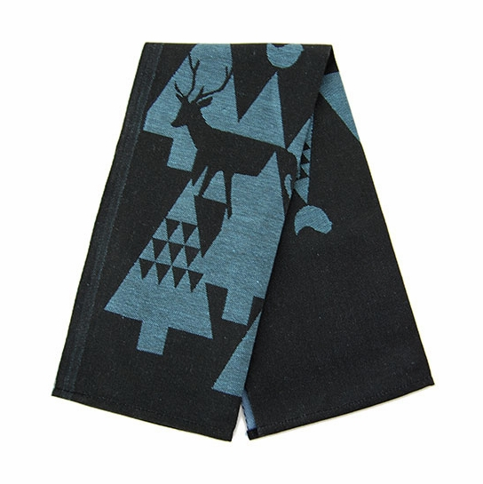 Lapuan Kankurit Yö Black/Blue Tea Towel