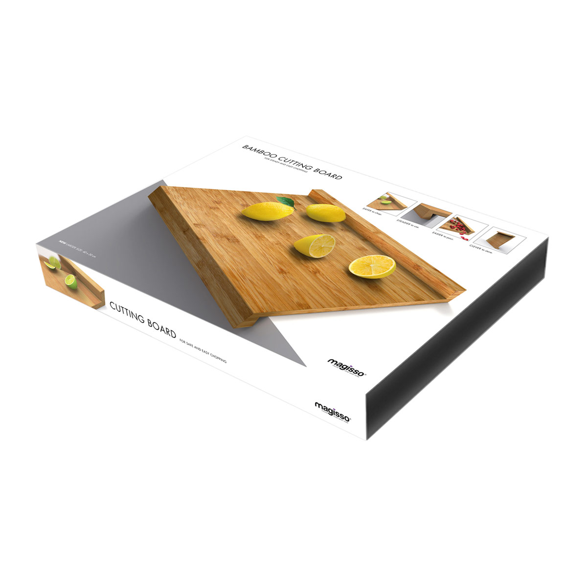 magisso bamboo large cutting board magisso kitchen innovations. Black Bedroom Furniture Sets. Home Design Ideas