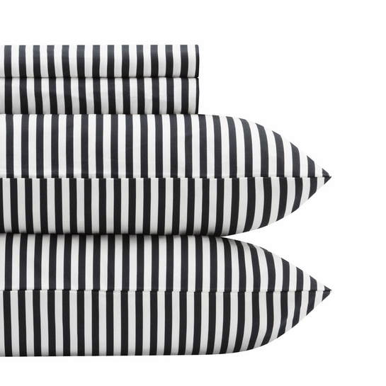 Marimekko Ajo White / Black Queen Sheet Set