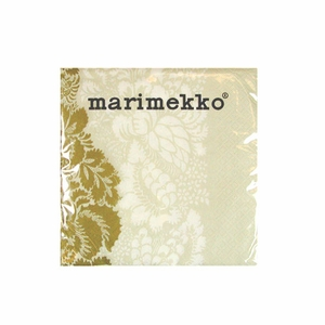 Marimekko Ananas Ecru Cocktail Napkins - Click to enlarge