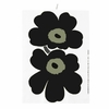 Marimekko Black Unikko Tea Towel - Set of 2