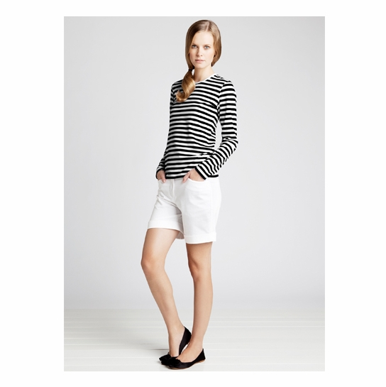 Marimekko Black/White Mari Long-Sleeve T-Shirt