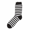 Marimekko Black / White Striped Socks