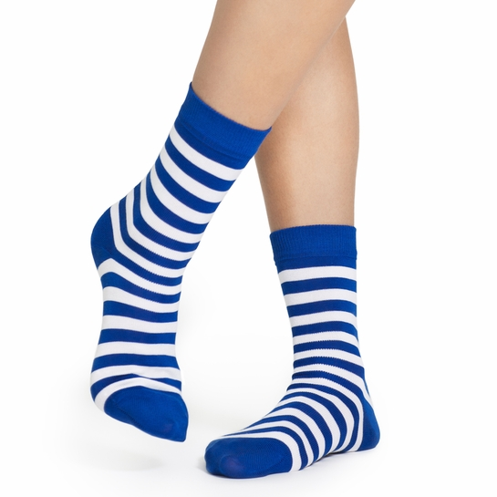 Marimekko Blue/White Striped Socks