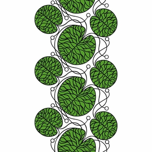 Marimekko Bottna Green/White Fabric