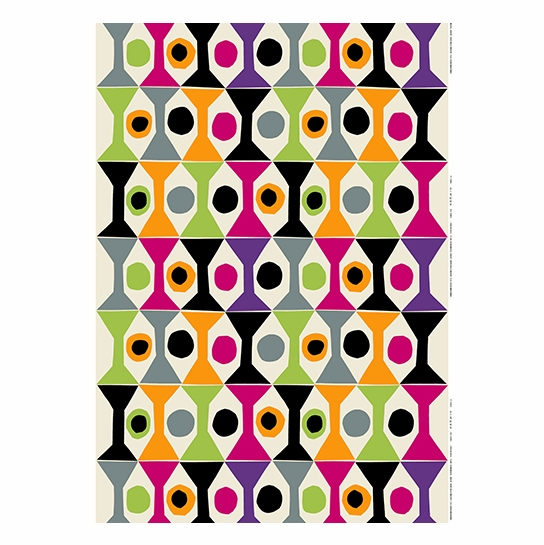 Marimekko Cocktail Ecru/Multi Fabric Repeat