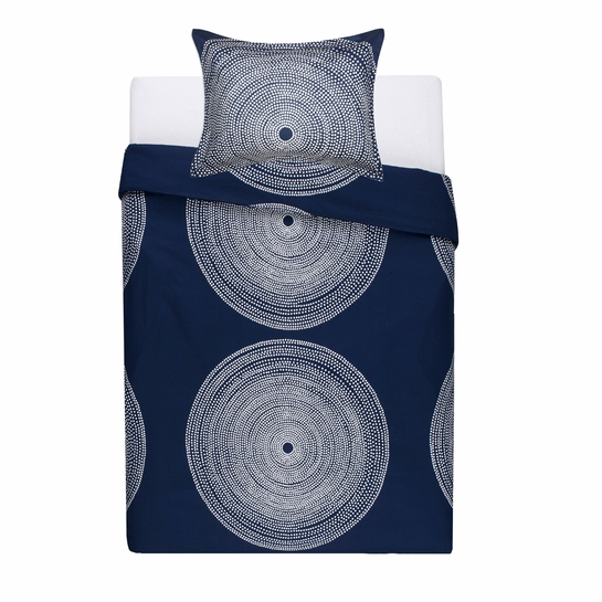 Marimekko Fokus Blue Twin Duvet Cover Set