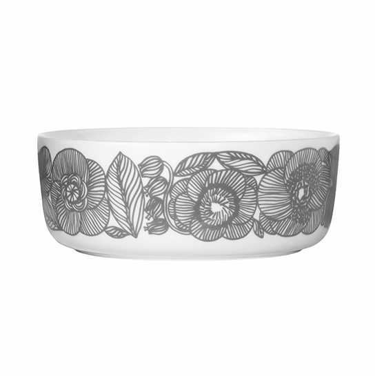 Marimekko Geranium White/Grey Serving Bowl