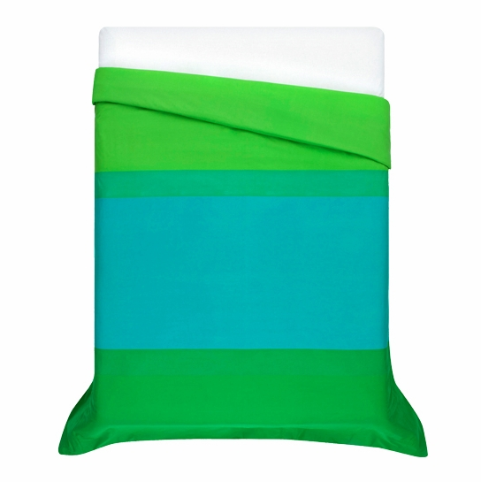 Marimekko Hennika Green Percale Twin Duvet Cover