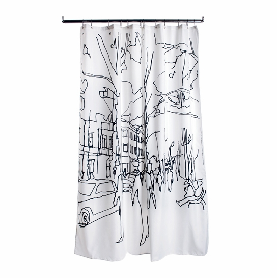 Marimekko Hetkiä Moments Long Polyester Shower Curtain