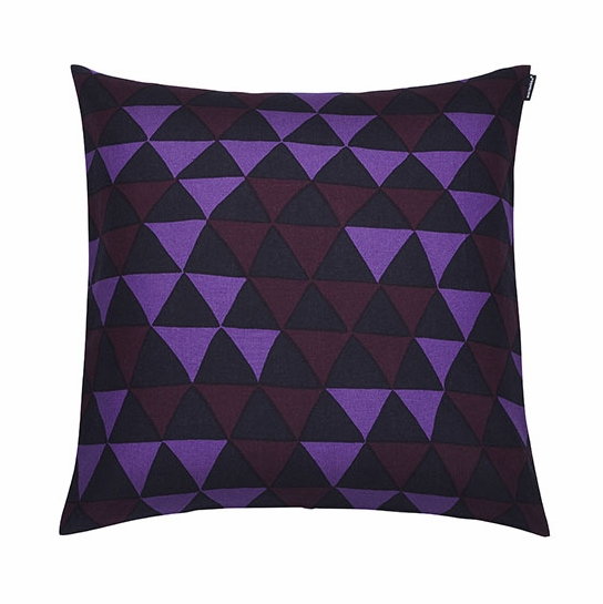 Marimekko Hippa Violet Throw Pillow